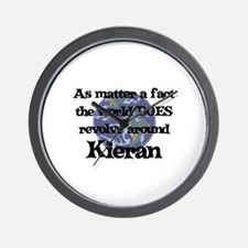 World Revolves Around Kieran Wall Clock