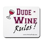 Wine Rules Mousepad