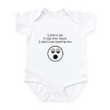 Your Fault Infant Bodysuit
