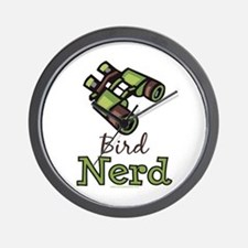 Bird Nerd Birding Ornithology Wall Clock