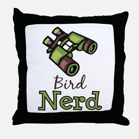 Bird Nerd Birding Ornithology Throw Pillow