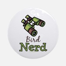 Bird Nerd Birding Ornithology Ornament (Round)
