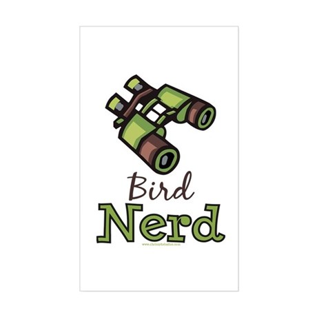 Bird Nerd Birding Ornithology Sticker (Rectangular