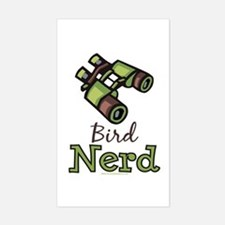 Bird Nerd Birding Ornithology Sticker (Rectangular