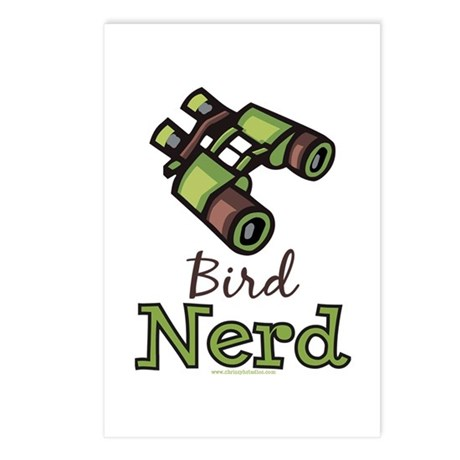 Bird Nerd Birding Ornithology Postcards 8 Pack