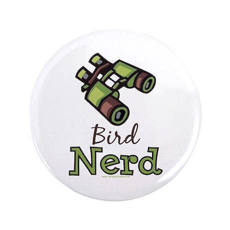 "Bird Nerd Birding Ornithology 3.5"" Button 100 pack"