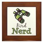Bird Nerd Birding Ornithology Framed Tile