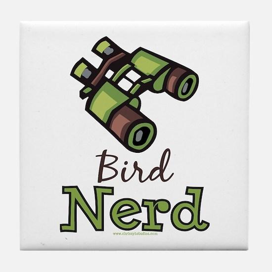 Bird Nerd Birding Ornithology Tile Coaster