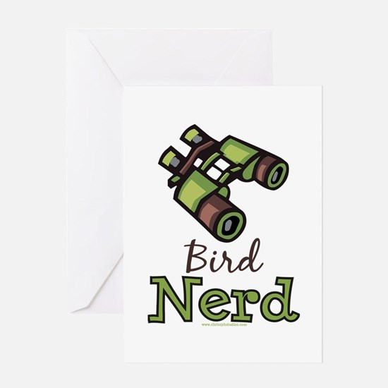 Bird Nerd Birding Ornithology Greeting Card