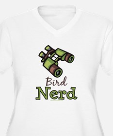 Bird Nerd Birding Ornithology Plus Size V Neck Tee