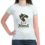 Bird Nerd Birding Ornithology Jr. Ringer T-Shirt