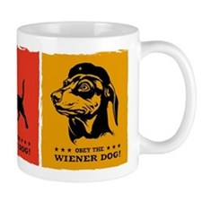 Obey the Wiener Dog! propaganda icon Mug