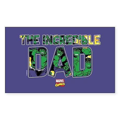 CafePress Hulk Dad Rectangle Bumper Sticker Car Decal 219681168