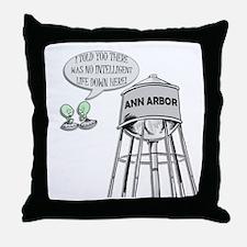 Anti Michigan Aliens Throw Pillow