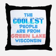 Coolest: Green Lake, WI Throw Pillow