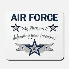 Airman Defending Freedom AF Mousepad