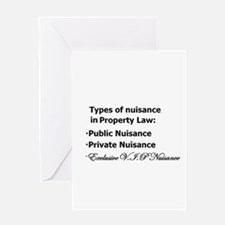 Nuisance Types Greeting Card