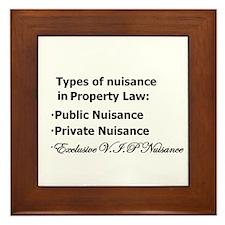 Nuisance Types Framed Tile