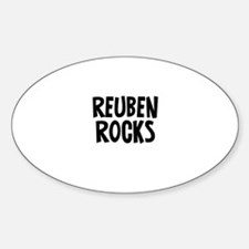 Reuben Rocks Oval Decal