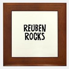 Reuben Rocks Framed Tile