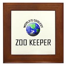 World's Coolest ZOO KEEPER Framed Tile