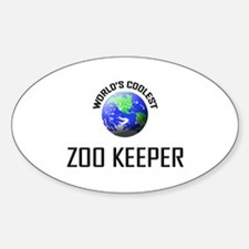 World's Coolest ZOO KEEPER Oval Decal