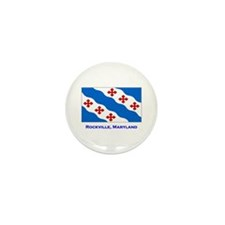 Rockville MD Flag Mini Button (100 pack)
