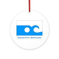 Ocean City MD Flag Ornament (Round)