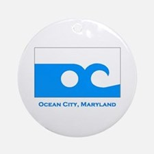 Ocean City MD Flag Ornament (Round)
