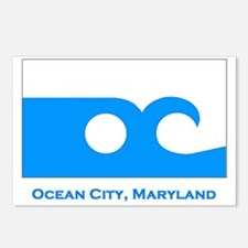 Ocean City MD Flag Postcards (Package of 8)