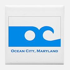 Ocean City MD Flag Tile Coaster