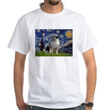 Starry Night & Keeshond Shirt