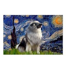 Starry Night & Keeshond Postcards (Package of 8)