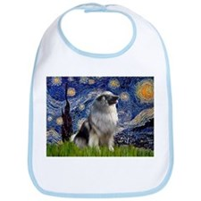 Starry Night & Keeshond Bib