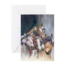 hollywood horses Greeting Cards
