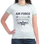 Husband Defending Freedom AF Jr. Ringer T-Shirt