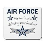 Husband Defending Freedom AF Mousepad