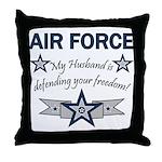Husband Defending Freedom AF Throw Pillow