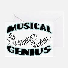 Musical Genius Greeting Card