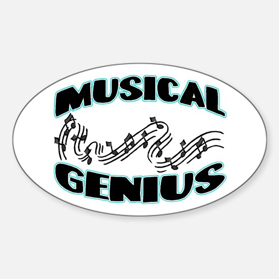 Musical Genius Oval Decal