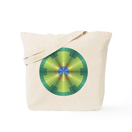 Peacock Illusion Tote Bag