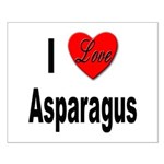 I Love Asparagus Small Poster