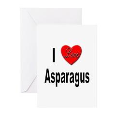 I Love Asparagus Greeting Cards (Pk of 10)