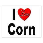 I Love Corn Small Poster