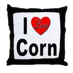 I Love Corn Throw Pillow