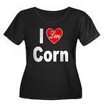 I Love Corn (Front) Women's Plus Size Scoop Neck D