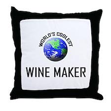 World's Coolest WINE MAKER Throw Pillow