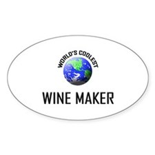 World's Coolest WINE MAKER Oval Decal
