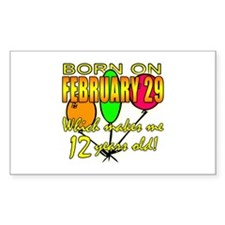 Leap Year Birthday 48 Yrs Rectangle Decal