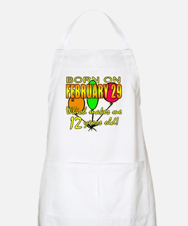 Leap Year Birthday 48 Yrs BBQ Apron